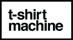 t-shirt machine - logo black